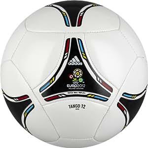 adidas 2012 Glider Mini Soccer Ball (White, Black, Size 1)