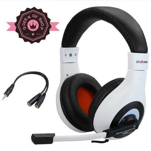 X4 White Siberia Style Excellent Sound Effects Professional Cf / Cs Gaming Headset Ergonomic Design With Freely Rotating Microphone For Xbox 360