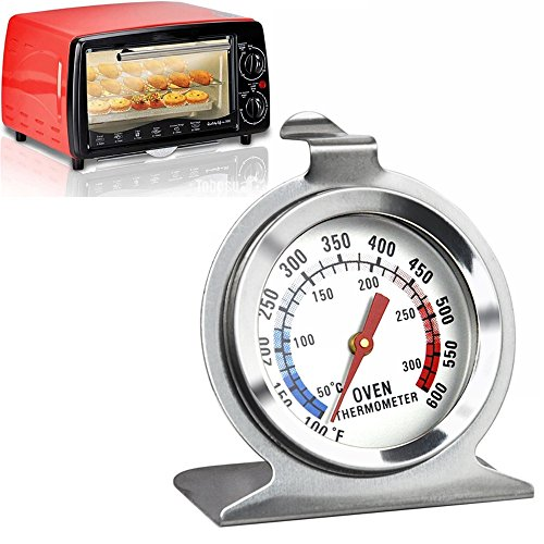 Jieweixin® Stainless Steel Free Stand & Hanging Oven Thermometer High Temperature Gauge Home Kitchen Cooking Food Meat Dial