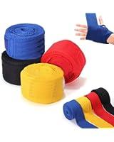 Bandes Bandage MMA Pour Gant Boxe Boxing Boxeur Sac de Frappe Poignees 2.5M noir