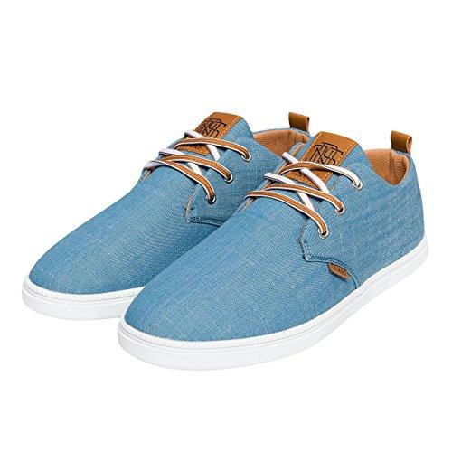 Djinns Herren Sneaker Linen Low Lau 2015 blau blau 44
