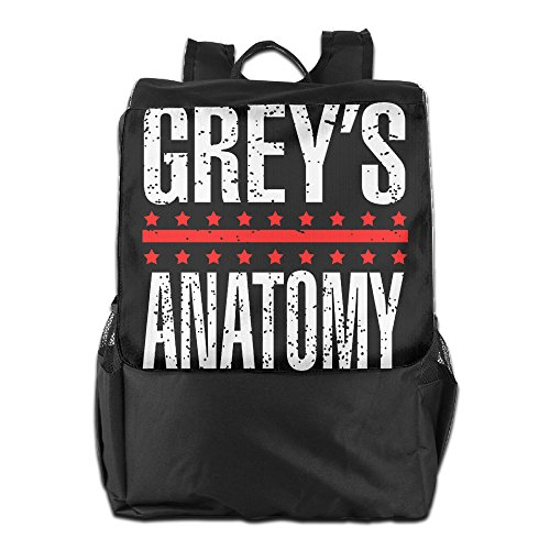 CYANY Grey's Medical Drama Television Anatomy Shoulder Bags Camper Black Backpack For Men & Women Teens College (Greys Anatomy Merchandise T Shirt compare prices)