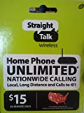 Straight Talk Home Phone Unlimited Plan, 30 Service Days (15$) (Mail delivery)