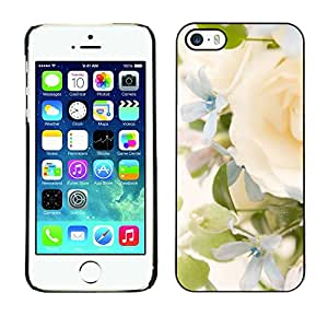 Omega Covers - Snap on Hard Back Case Cover Shell FOR Apple iPhone 5 / 5S - Yellow Rose Green Spring Bright Bride