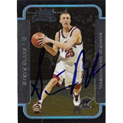 Steve Blake Autographed Hand Signed Basketball Card (Washington Wizards) 2003 Bowman...