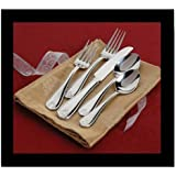 Reed & Barton Ribbon Crest 18/10 Stainless Flatware 107 Piece Set Service for 12
