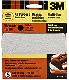 3M Hookit 9142W 5-Inch No Hole Discs, Medium 80 Grit, 5-pack
