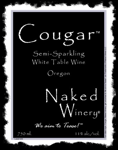 Naked Winery NV  Cougar Semi Sparkling White 750 mL