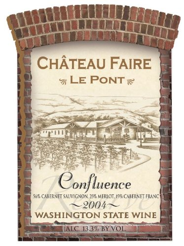 "2004 Chateau Faire Le Pont ""Confluence"" Washington State Red Blend 750 Ml"