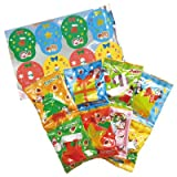 【クリスマスお菓子】明治 ツリーにかざろう!オーナメントアソート・8袋入り(1パック)  / お楽しみグッズ(紙風船)付きセット [おもちゃ&ホビー]