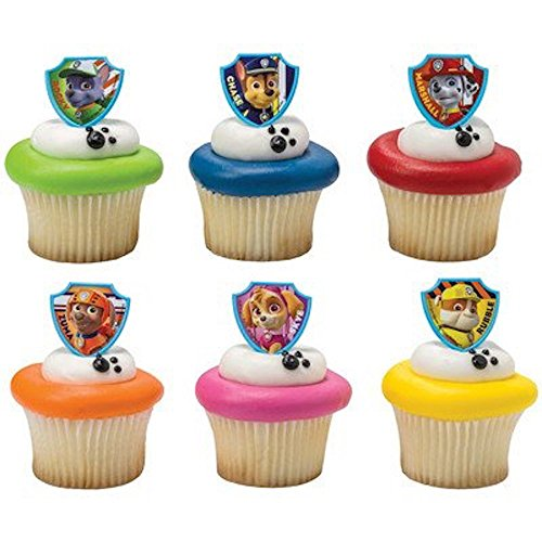 DecoPac Paw Patrol Ruff Ruff Rescue Cupcake Rings, Pack of 24