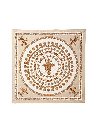 Versace Women's Patterned Scarf, Beige