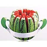 Melon Cantaloupe Watermelon Stainless Steel Slicer Splitter Creates 12 Equal Slices