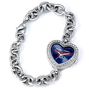 Ladies NBA Atlanta Hawks Heart Watch by Jewelry Adviser Nba Watches