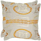 Safavieh Pillow Collection Throw Pillows, 22 by 22-Inch, Reese Orange, Set of 2