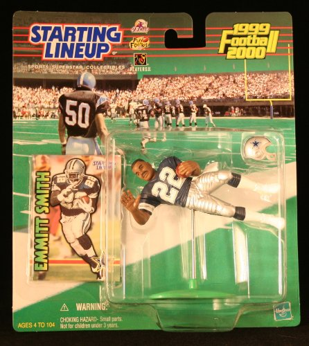 EMMITT SMITH / DALLAS COWBOYS 1999-2000 NFL Starting Lineup Action Figure & Exclusive NFL Collector Trading Card - 1