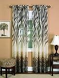 Achim Home Furnishings Kenya Curtain Panel, 50-Inch by 84-Inch, Brown