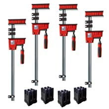 Bessey KRK2440 K Body REVO Fixed Jaw Parallel Clamp Kit Includes: 2-24-inch, 2-40-inch K Body Clamps and 1 set of KP Blocks