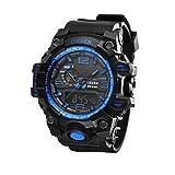 UNIQUEBELLA Armbanduhr OHSEN AD1606 Multifunktional LED Digitaluhr Klassisch Sportuhr Silikon