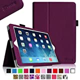 Fintie Apple iPad Air Folio Case - Slim Fit Leather Smart Cover with Auto Sleep / Wake Feature for iPad Air (iPad 5th Generation) 2013 Model, Purple