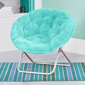 Amazon Com Comfort Padded Moon Chair Aqua Folding Chairs