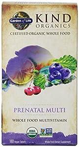 Garden of Life Kind Organics Prenatal Multivitamin, 180 Organic Tablets