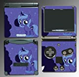 My Little Pony Princess Luna Nightmare Moon Cartoon Movie Toy Video Game Vinyl Decal Cover Skin Protector for Nintendo GBA SP Gameboy Advance Game Boy