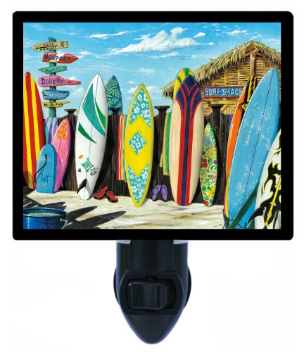 Surfing Night Light - Surf Shack - Sports Led Night Light