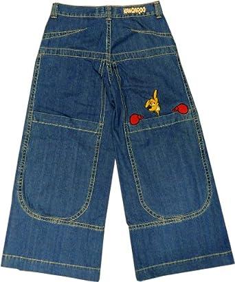 Original Jnco Kangaroos Wide Leg Jeans (34 inch Waist, Blue): Clothing