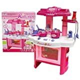 "Deluxe Beauty Kitchen Appliance Cooking Play Set 24"" w/ Lights & Sound"