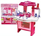 Deluxe Beauty Kitchen Appliance Cooking Play Set 24 w/ Lights & Sound