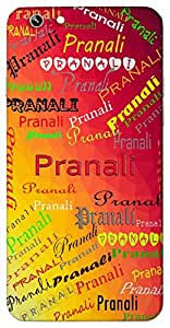 Pranali (Organisation) Name & Sign Printed All over customize & Personalized!! Protective back cover for your Smart Phone : Moto G3 ( 3rd Gen )