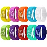 Digital Led Band Watch Set Of 10-(Color May Very )-Fm - B071RNY98L