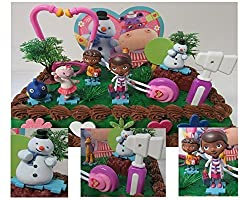 Disney Doc Mcstuffins 16 Piece Cake Topper Set Featuring Doc Mc Stuffins, Donny Mc Stuffins, Lambie, Chilly, Gabby And Squeakers, Themed Decorative Accessories, Figures Average 1 To 3 Tall