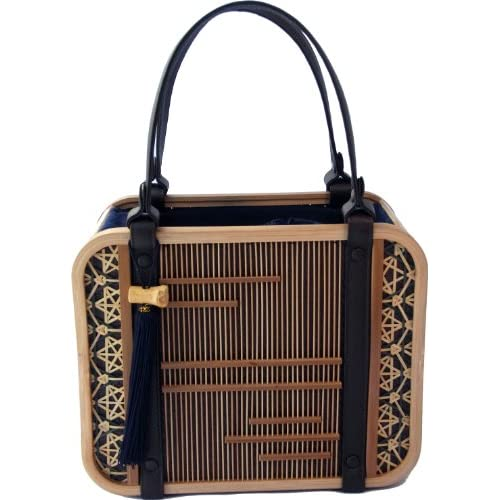 Amazon.com: Shizuoka Bamboo Crafts Cooperative - Bamboo Handbag Komachi (Town Beauty) - Made in Japan: Clothing