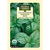 Seeds of Change Certified Organic Basil, Genovese - 300 milligrams, 125 Seeds Pack