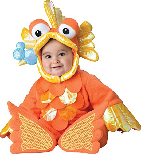 InCharacter Costumes Baby's Giggly Goldfish Costume, Orange, Small