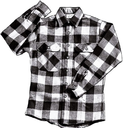 Rothco extra heavy weight brawny flannel shirt ebay for Heavy plaid flannel shirt