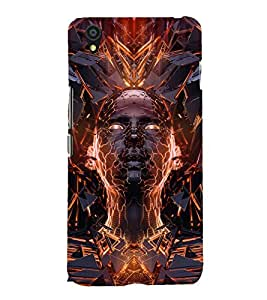 printtech 3D Abstract Person Back Case Cover for One Plus X