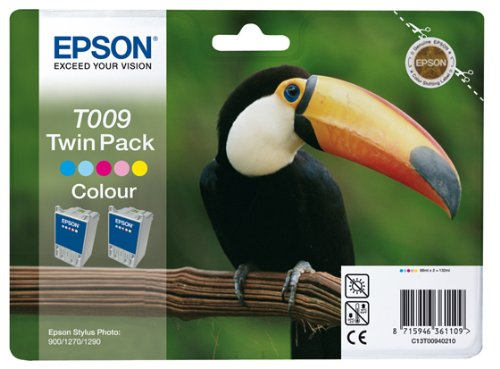 cartouches d'encre Epson T009 original C13T00940210 cyan, Cyan clair, Magenta clair, magenta, Jaune pour Epson C13T00940210