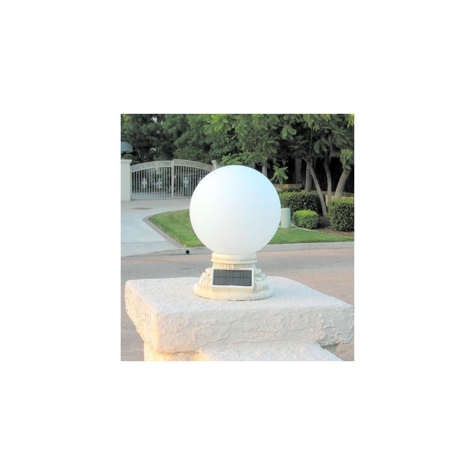Homebrite Solar Solar Power Frosted Glass Globe Entrance Light   30855