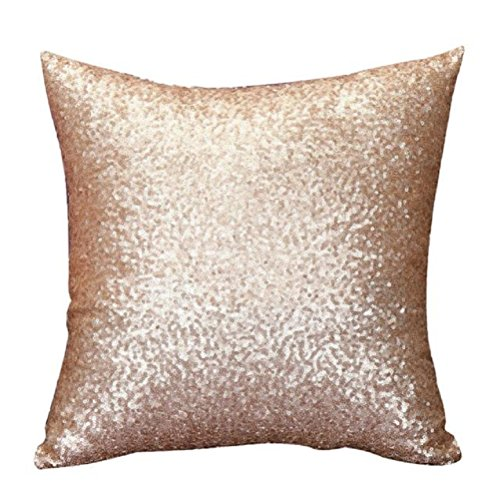 Decor Pillow Case,Neartime Solid Color Glitter Sequins Cafe Home Cushion Covers (Gold) (Cheap Couch Covers compare prices)