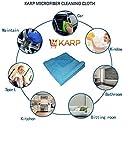 KARP MICROFIBER MULTI PURPOSE TOWEL,CAR CARE AND DRY WET CLEANING CLOTH (40cm x40cm) Sky Blue