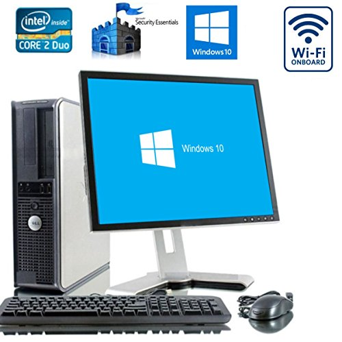 "Newly Refurbished Encore Dell Dual Core PC Bundle with Microsoft Windows 10 Home and WIFI - 17"" Monitor - New Keyboard and Mouse and 1 Year Warranty ..."