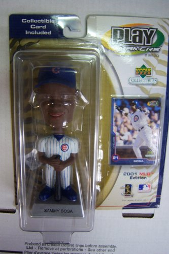 Upper Deck Play Makers Sammy Sosa 2001 MLB Edition Bobble Head w/ Card - 1
