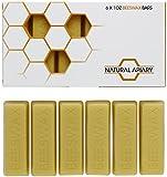 NATURAL APIARY® 100% ORGANIC BEESWAX BARS - Six (6) COSMETIC Grade 1oz Bars - Lotions, Lip Balms, Skin Care, Candles, Soap Making, Polish - Money Back Guarantee