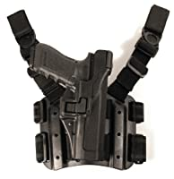 BLACKHAWK! Serpa Level 3 Tactical Black Holster, Size 09, Left Hand (H&K USP Compact / P2000 EURO)