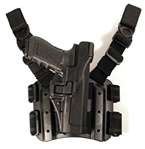 BLACKHAWK! Serpa Level 3 Tactical Black Holster, Size 17, Left Hand, H&K P-30 (H&K P-30)
