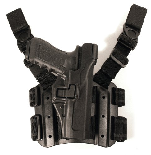 Blackhawk! Serpa Level 3 Tactical Black Holster, Size 13, Right Hand (Glock 20/21/21Sf(Not 1913 Rail)/37/38)
