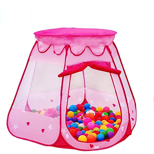 Lepapillon Pink Princess Tent Indoor and Outdoor 1-8 Years Old Children Game Play Toys Tent Balls Not Included (Pink) (Gift One Year Old Girl compare prices)